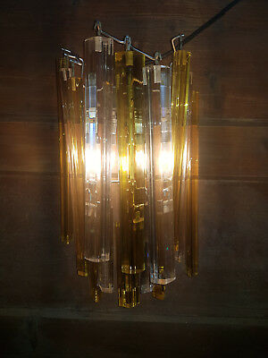 Venini Murano Wandlampe - wall lamp sconce - 16 clear and amber glass