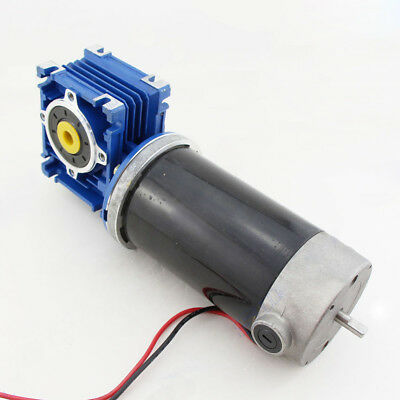 DC12V 24V  GW80170 Large Torque Turbo Worm Gear Motor 12-220RPM with Tail Shaft