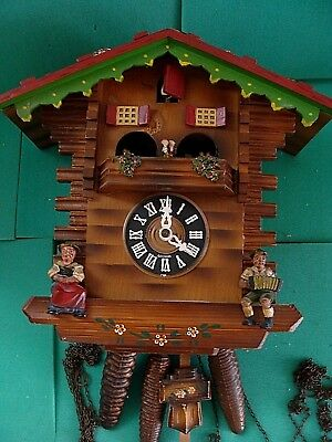 Rare Antique Black Forest German Cuckoo Clock, all parts, working