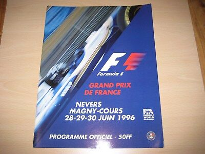 Rennprogramm GP France, Magny Cours 1996 Formula 1, Official Programme