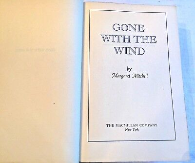 """""""GONE WITH THE WIND"""" Margaret Mitchell FIRST EDITION 1936 HARD COVER BOOK"""