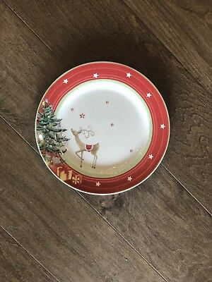 Christmas Jubilee by Spode Salad Plate with Red Band NEW