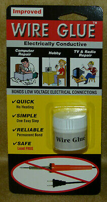 Improved Wire Glue : Lead Free Bonds Low Voltage Connections No Soldering