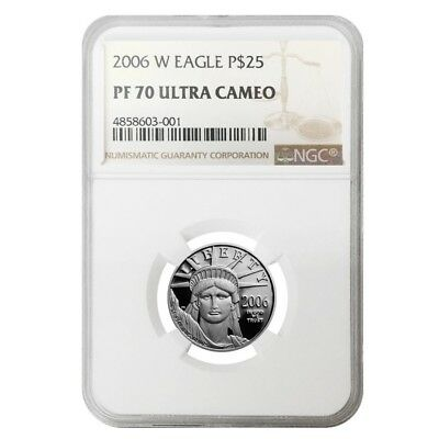 2006 W 1/4 oz $25 Platinum American Eagle Proof Coin NGC PF 70 UCAM