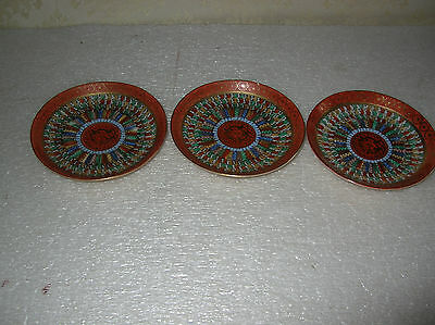 3 Japanese 1000 Thousand Faces Coffee Cup  Plates