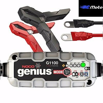 Noco Genius G1100 6V & 12V Motorcycle Battery Charger & Maintainer 1.1Amp