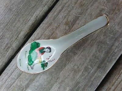 Chinese Japanese Export Porcelain Spoon Hand Painted Classic Lady Marked