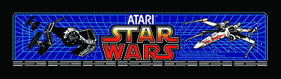 Star Wars Atari Arcade Marquee For Reproduction Header/Backlit Sign