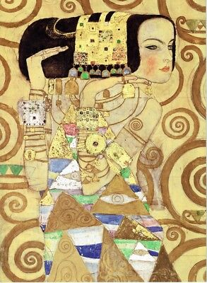 Detail of- Dancing girl Gustav Klimt 1910 Poster Canvas Picture Art Print A0-A4