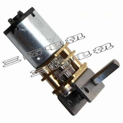 GW12GA DC6/12V 4-42RPM Worm Gear Box Motor Reducer Motor For DIY Robot Door Lock