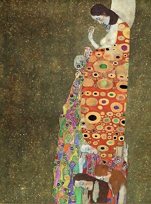 Hope II Vision Gustav Klimt 1907-08 Poster Canvas Picture Art Print A0-A4