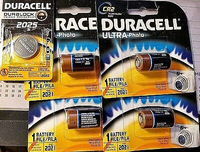 (4)Duracell CR2 3V Ultra Photo Lithium Battery DLCR2BU (4x cr2) and (1)DL2025