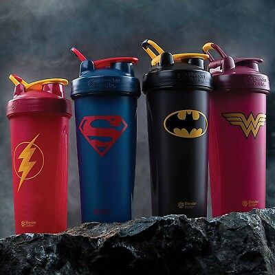Batman Blender Bottle DC Comics Superhero Series 28 oz. Shaker with Loop Top