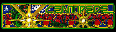 Centipede Arcade Marquee For Reproduction Header/Backlit Sign