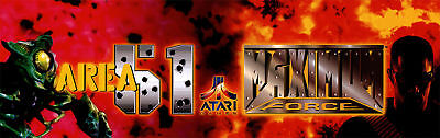 Area 51 Maximum Force Arcade Marquee For Header/Backlit Sign