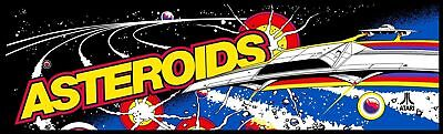 Asteroids Arcade Marquee For Reproduction Backlit Sign