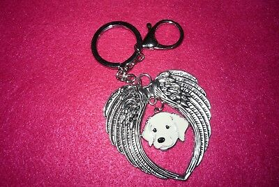 Great Pyrenees Dog Keychain