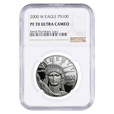 2000 W 1 oz $100 Platinum American Eagle Proof Coin NGC PF 70 UCAM