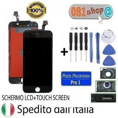 Touch Screen Frame Vetro Lcd Display Retina Schermo Apple Iphone 6 Nero