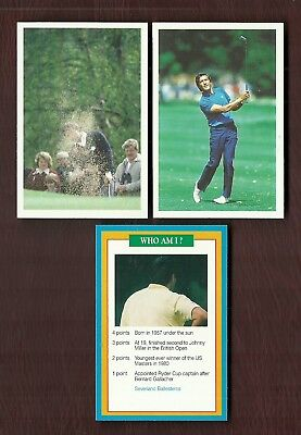 Severiano Ballesteros (Seve) - Uk Issue Game Cards - Question Of Sport