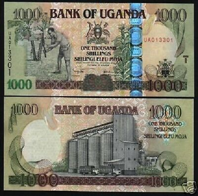Uganda 1000 1,000 Shillings P43 2005 Horse Truck Unc Africa Money Bill Bank Note