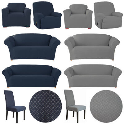 SureFit Diamond Couch Sofa Lounge Slip Cover Dining Chair Recliner 1 2 3 Seater