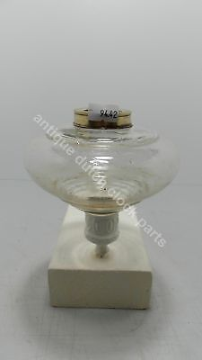 Small Art Deco Clear Glass Tank For Oil Kerosene Or Paraffin Lamp
