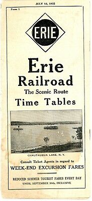 Erie Railroad, System passenger time table, July 12, 1922 - 30 panels