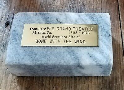 Georgia Marble from LOEW'S GRAND THEATRE (1893-1978) Atlanta GONE WITH THE WIND