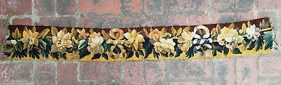 A Great Wool & Silk Tapestry Border w/ Ribbons & Flowers