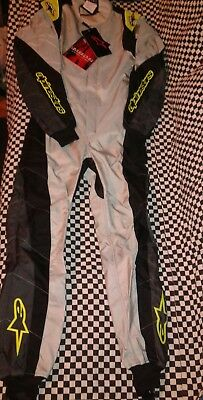 Alpinestars kmx1 suit 42 new silver fluorescent yellow new in bag