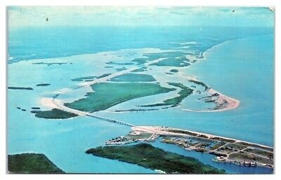 1970 Aerial View, Causeway connecting Fort Myers and Bonita Beaches, FL Postcard