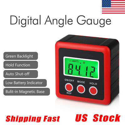 LCD Digital Bevel Box Gauge Angle Finder Protractor Inclinometer Magnetic IP54
