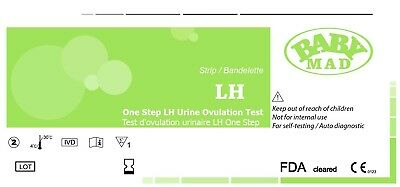 Test d'Ovulation LH - Bandelette - Lot de 20 - 20mIU NEUF