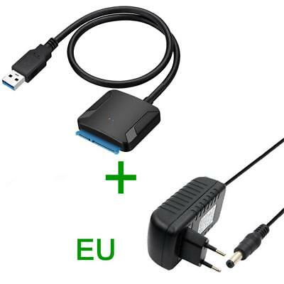 """USB 3.0 to SATA External  Adapter Converter Cable Hard Drive 2.5"""" 3.5'' HDD SSD"""