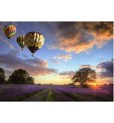 1000 piece jigsaw puzzle - A Balloon Tour (High Quality European Blue Board)
