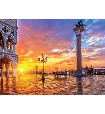 1000 piece jigsaw puzzle - Piazza San Marco (High Quality European Blue Board)
