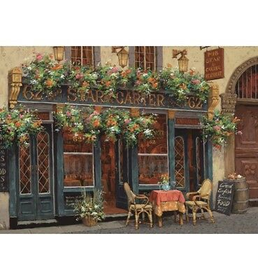 1000 piece jigsaw puzzle - Romantic Cafe (High Quality European Blue Board)