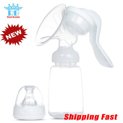 PP Manual Breast Pump Baby Feeding Milk Single Bottle Massage 3 Mode Suction New