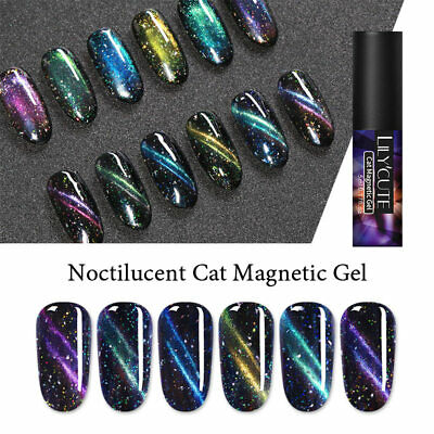 LILYCUTE Magnetic Cat Eye UV Gel Polish Sequins Soak Off Nail Art Varnish Tools