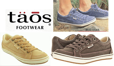 Taos Shoes Canvas comfort lace up sneakers with arch support - Taos Moc Star