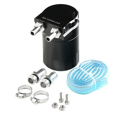 Safty Use Aluminum Alloy Universal Cylinder Car Oil Catch Can Tank with Breather