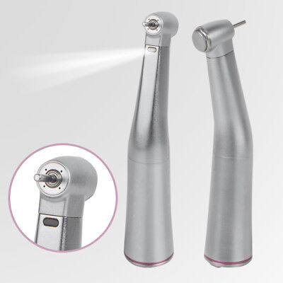 E-type Dental 1:5 Increasing LED Fiber Optic Contra Angle Handpiece Red Ring CE