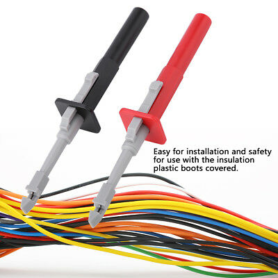 2Pcs/set Safety Test Clip Insulation Piercing Probes For Car Circuit Detection