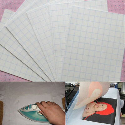 5 Sheets A4 Inkjet Heat Iron On Transfer Paper For Light Color Cotton Fabrics