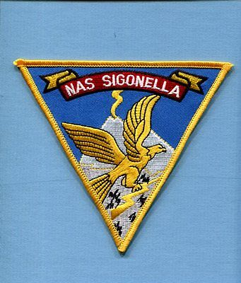 NAS NAVAL AIR STATION SIGONELLA SICILY ITALY US Navy Base Squadron Jacket Patch