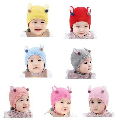 Newborn Kids Baby Wool Beanie' Soft Girl Boy Knit Hat Toddler Infant Kid Cap