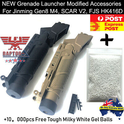 New Jinming M4 SCAR V2 Grenade Launcher Accessories Gel Ball Blaster Toy OZ
