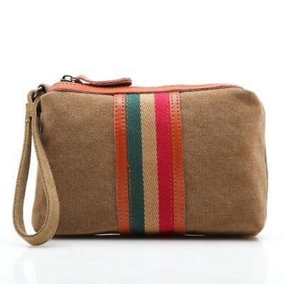 8c5fad2c9a Hot Travel Toiletry Bag Zipper Canvas Case Compact Organizer Portable Pouch