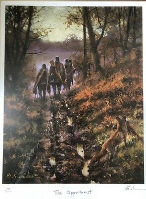 """Mick Cawston Rare Limited Edition Signed Print  """"The Opportunist"""""""